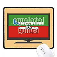 赤道ギニアの旗の名前 マウスパッド・ノンスリップゴムパッドのゲーム事務所