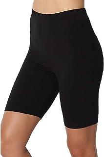 Jotebriyo Womens Bermuda Casual Sport Plain Skinny Gym Workout Yoga Biker Shorts