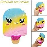 JKKJ Kawaii Ice Cream Fidget Toys, Squishy Squeeze Slow Rise Bauble, Aliviador del estrés Abreact Juguetes para adultos niños adornos regalos de cumpleaños