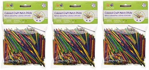 "Craft Match Sticks-Colored 2"" 750/Pkg"