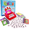 YOHE Matching Letter Game, Alphabet Reading & Spelling, Words & Objects, Number & Color Recognition, Educational Learning Toy for Preschooler, Kindergarten 2+ Years Old Kids Boys Girls Toddlers (Red)