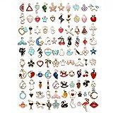 Shengyang, los encantos, los amuletos de 100 unids establecen colores surtidos y moldes encantos perlas para bricolaje de scrapbooking, artesanía, teléfono kest decoración y banda para