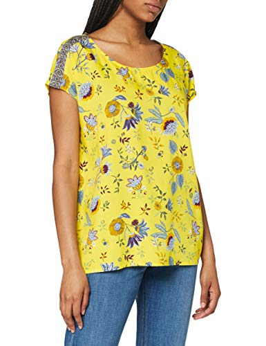 Cecil Damen 342148 TOS Dropped Shoulder Blouse Bluse, Radiant Yellow, Medium