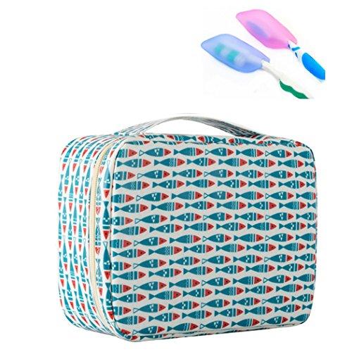 Amoyie Trousses de toilette garçon avec brosses à dents couvertures voyage, Maquillage Trousse de Toilette Sac à cosmétique sac organisateur enfants
