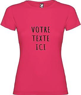 Tip Top Tshirt T-Shirt Femme personnalisé avec Votre Texte - Différentes Couleurs