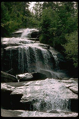 397007 Falls Lone Pine Creek in de buurt van Whitney Portal A4 Photo Poster Print 10x8