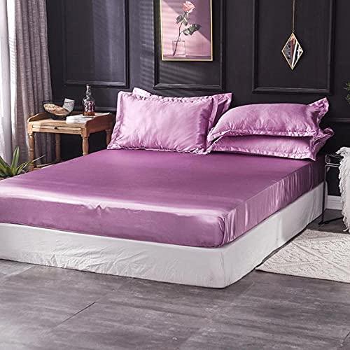 XGguo Protector de colchón - óptimo antiácarosSábana de Cama de Color Puro, Cubierta Completa, Pasta de habichuelas, 150x200cm
