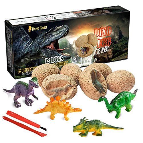 Dinosaur Toys, Dino Egg Dig Kit Kids Gifts - Break Open 12...