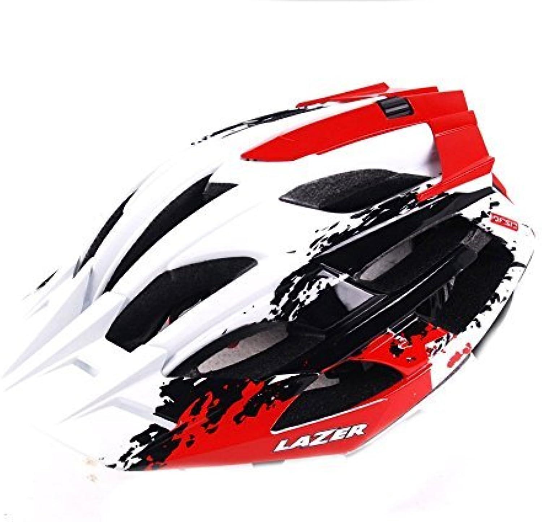 Lazer Oasiz GPC Helmet  White Red; MD by Lazer