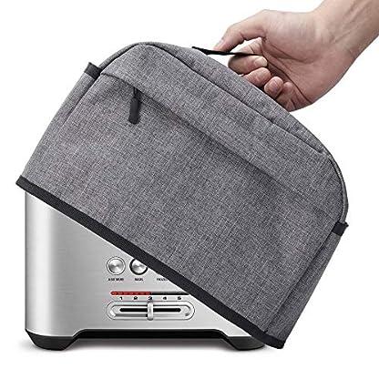BGD-Toaster-Abdeckung-mit-Reiverschluss-und-offenen-Taschen-fr-kleine-Gerte-mit-Griff-Staub-und-Fingerabdruckschutz-maschinenwaschbar