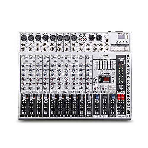 G-MARK GMX1200 Professional audio mixer micriophone console dj Music Studio 12 channels 8 mono 4 stereo 7 brand EQ 16 effect USB play