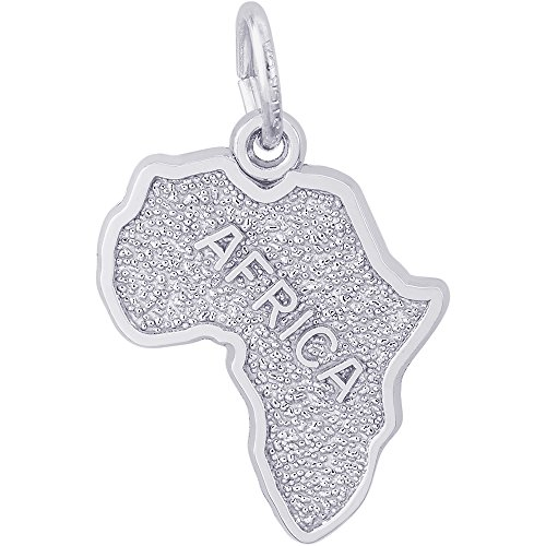 Rembrandt Charms Sterling Silver Africa Charm (18.5 x 14.5 mm)