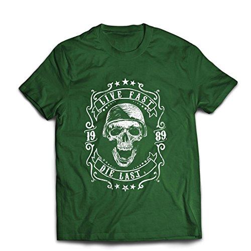 lepni.me T-shirt voor heren, leef snel – stirb tot de laatste fiets, motorkleding, liefde voor het rijden, leuk cadeau voor bikers