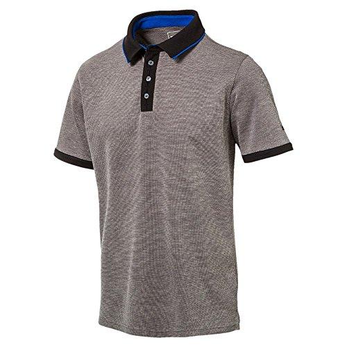 Puma Golf Herren Tailored Placket Polo Shirt Männer Polohemd Golfshirt schwarz Größe XS