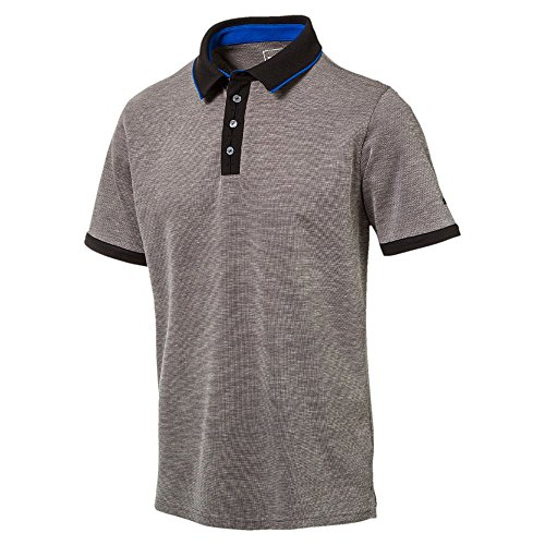 Puma Golf Herren Tailored Placket Polo Shirt Männer Polohemd Golfshirt grau Größe L