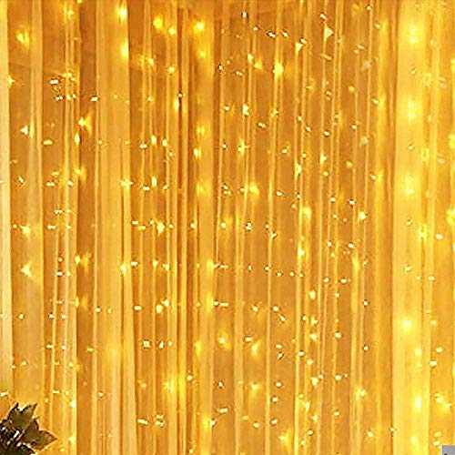 COCO FUN Curtain Lights with Remote & Timer