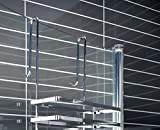 Portaoggetti per cabine doccia a 3 ripiani, si fissa senza viti e fori, prodotto di serie B con piccoli graffi o difetti di cromatura