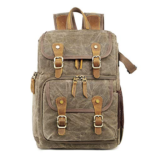 Camera Cases Travel Camera Storage Bag Waterproof Shoulder Bag 40L 600D Oxford Backpack For storing cameras (Color : Beige, Size : One size)