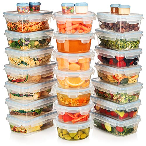 HUGE SET - 42 Pack - Food Storage Containers with Airtight Lids - Easy Snap Lock - Leak Proof...