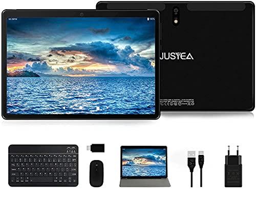 autoradio 8gb ram Tablet 10.1 Pollici Android 10.0 Tablets Ultra-Portatile- RAM 4GB | 64GB Espandibile(Certificazione GOOGLE GMS) -JUSYEA- 8000mAh Batteria - WIFI - Mouse | Tastiera e Altro - Nero