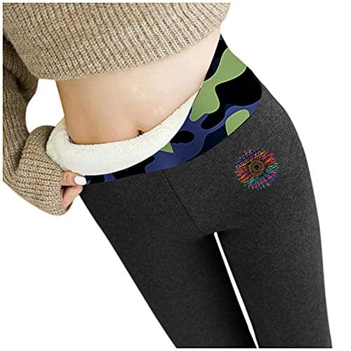 feftops Pantalón Deportivo de Mujer Cintura Alta Leggings Mallas para Espesar Suave Jeggings Cálido Casual Elegante Acogedor Leotardos