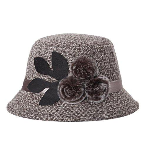 Westeng 1Pcs Gorro de Invierno para Mujer Moda Flores Sombreros de Invierno Regalo Cálido en el Frío Invierno