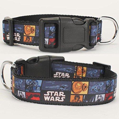 1'25mm Star Wars Pattern Dog Collar,1 inch Dog Collar 26-36CM