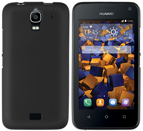 mumbi Hülle kompatibel mit Huawei Y3 Handy Hülle Handyhülle, schwarz