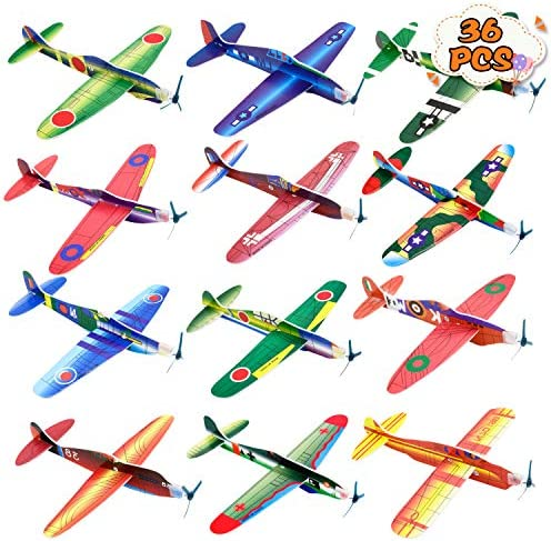Kissdream 36 Pack 8 Inch Glider Planes Birthday Party Favor Plane Great Prize Handout Giveaway product image