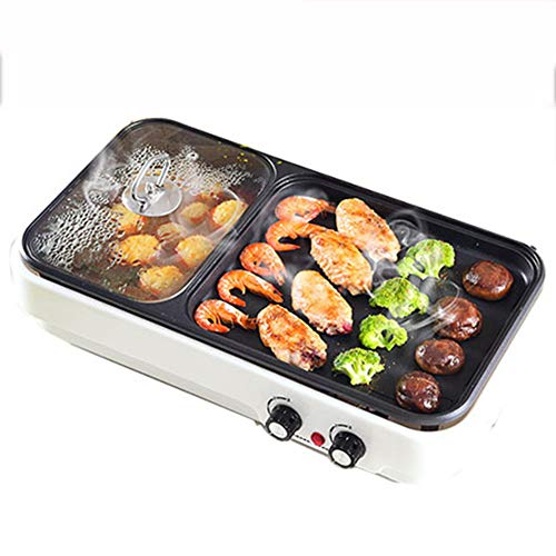 LSSLA anti-aanbaklaag kookgerei BBQ Grill tafelgrill tapanyaki-grill elektrische grill rookvrije elektrische bakplaat binnen-multifunctionele grill