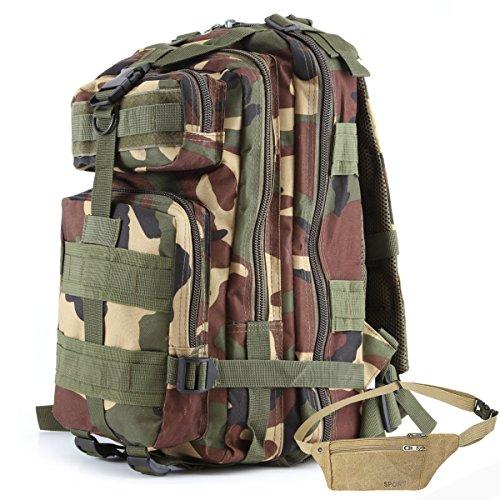 COZYJIA Mochila al Aire Libre, Mochila de Combate táctico MOLLE Assalto del Paquete de Asalto del ejército Militar Mochila 35L (WL)