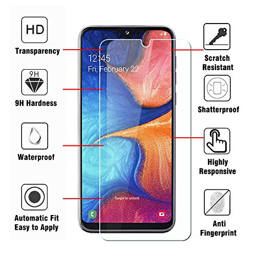 SDTEK *2 Pack Schutzglas für Samsung Galaxy A20e Panzerglas Glasfolie Hartglas Panzerfolie Tempered Glass Screen Protector Schutzfolie Displayschutzglas Samsung Galaxy A20e