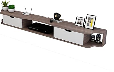 Floating TV Stand Wall-Mounted TV Stand Set-top Box,Living Room TV Cabinet Console,Entertainment Control Center (Color : F, Size : 120cm)