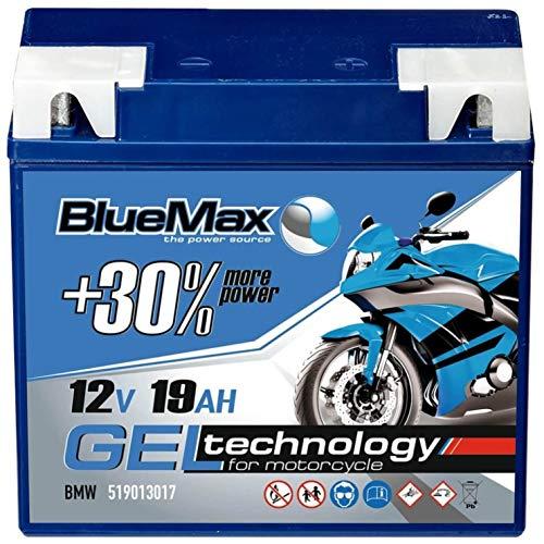 BlueMax G19 Motorradbatterie GEL 12V 19Ah Batterie 51913 ABS statt 18Ah 20Ah 21Ah