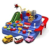 Watkings Race Car Track Set for Kids, Car Adventure Game Manipulative Rescues Squad Adventure Rail Car Model Racing Educational Toys, Best Christmas Gifts for Children, Birthday Gifts