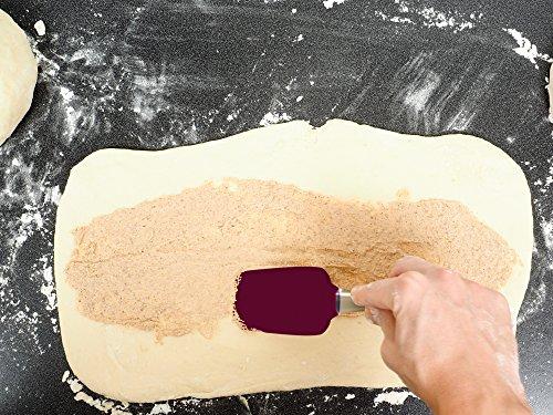 Ultra Premium 3 Pc Silicone Spatula Set, Ergonomic Long Palm Handle Grip w Hanging Holes. 450°f Heat-Resistant Silicone Utensils, Non-Stick 4 Cooking, Sautéing, Scraping, Decorating & Baking