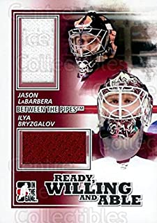 (CI) Ilya Bryzgalov, Jason LaBarbera Hockey Card 2010-11 Between The Pipes Ready, Willing and Able Jersey Black 7 Ilya Bryzgalov, Jason LaBarbera