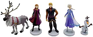 Frozen cake topper Figures Set 5Pcs Frozen cake decorations for Frozen party supplier birthday