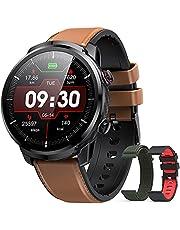 Smartwatch Heren, Hommie Smartwatch Volledig Touchscreen Waterdicht IP68, Slimme activiteitsarmband met 9 Sporten, Pulsometer, Droom, GPS, Calorie, 3 Banden, iOS en Android