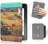 Funda Para Kindle - Cubierta De Cuero Más Ligera De La Serie Pu Van Gogh Con Despertador / Dormir Automático Para La Nueva Funda Inteligente Kindle 10Th Case Para Kindle Paperwhite 10Th Hard Case P