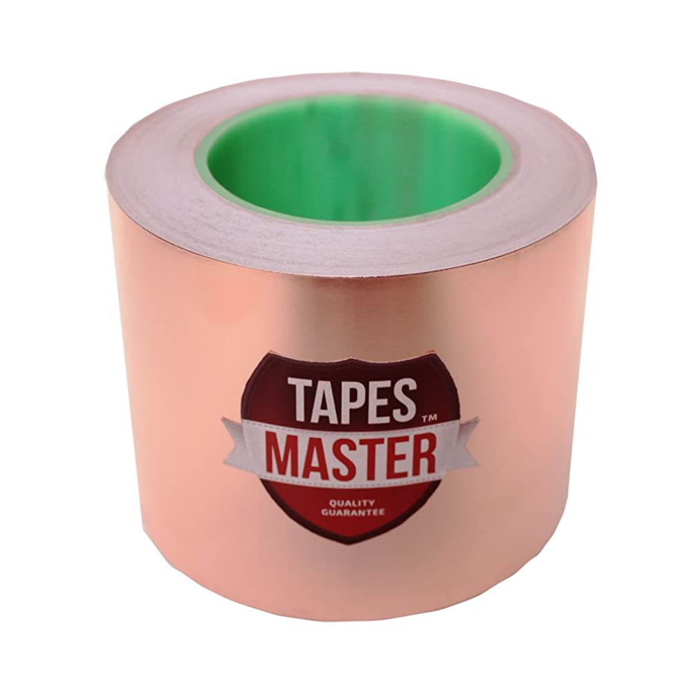 4 inch x 55 yds Copper Foil Tape - (38mm x 50m) - EMI Shielding Conductive Adhesive