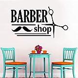 AGiuoo Etiqueta de la Pared decoración de peluquería Cortes de Pelo para Hombres salón de Belleza Bigote Vinilo calcomanía Impermeable DIY 57x104cm
