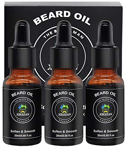 3 PACK Beard Oil for Men 100% Natural Scented Beard Growth Oil Leave-in Conditioner & Softener for Beard Care & Grooming w/Gift Box