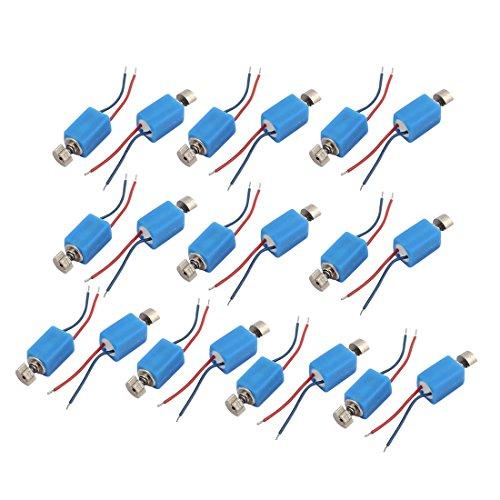 sourcingmap 20Pcs DC 3V 4 x 8mm 3500RPM Mini Vibrationsmotor Blaue Farbe für Handy DE de