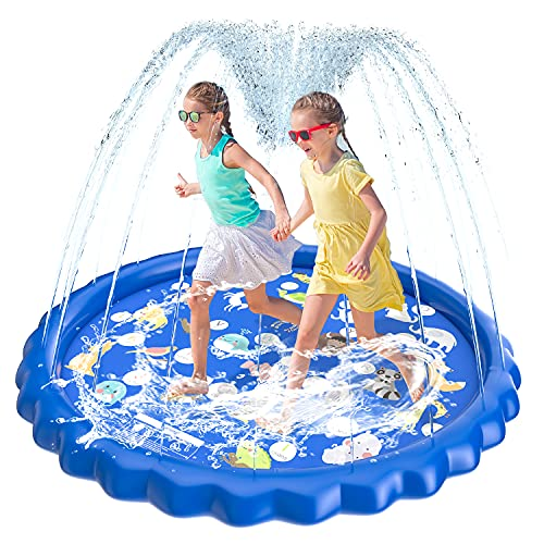 HIP4FUN Splash Pad, Sprinkler for Kids Toddlers 68
