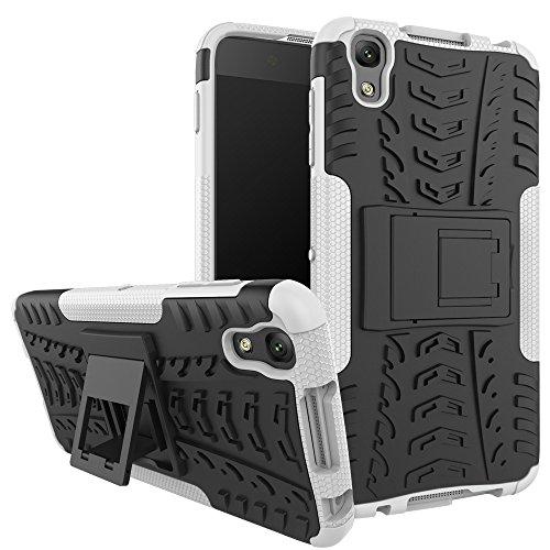 F&a® Festigkeit Smartphone Hülle mit Kickstand Schutz für Alcatel Idol 4/BlackBerry DTEK50(Weiß)