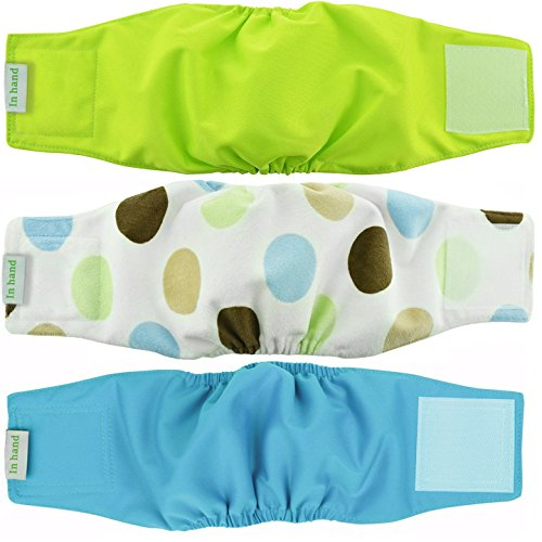 Washable Male Dog Diapers(Pack of 3)