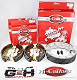 WATER GROOVED Front and Rear Brake Shoes & Springs SET for the Honda 1998-2004 TRX 450 S ES Foreman