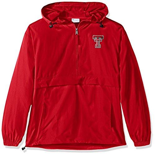 Champion Chaqueta NCAA Pack & Go para hombre, color rojo clásico, XXL