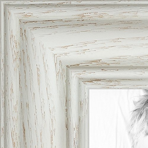 ArtToFrames 3x5 / 3 x 5 Picture Frame White Wash on Ash 1.25'' Wide (2WOM59504)